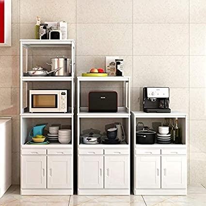 Amazon Com Ample Storing Area Solid Wood Microwave Cabinets