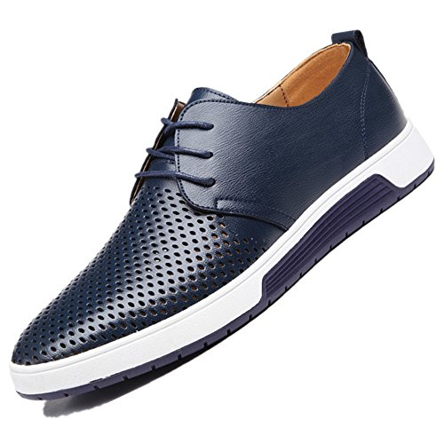 Dimensione stile Bebete5858 Pelle Extra Uomo particolarmente scamosciato PU casuale 48 Blue Grande Uomini scarpe Inghilterra wtB1O
