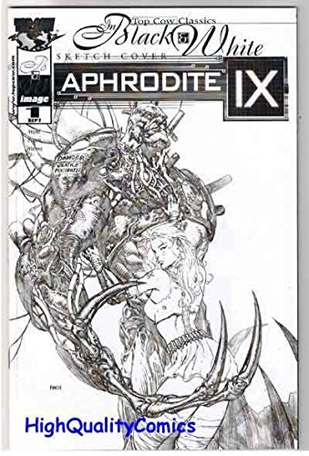 APHRODITE IX #1, Black White Sketch cover, VF, Dave Finch, Femme Fatale, 2000 (Finch Fine Cover)