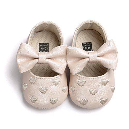 Zapatos de bebé,Auxma Niña Bowknot zapatos de cuero zapatillas antideslizante suave niño único para 0-18 meses marrón