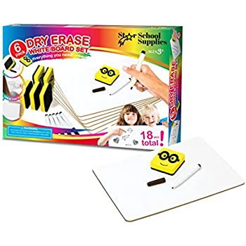 Amazon.com : Dry Erase Boards | 6 Whiteboard Class Set