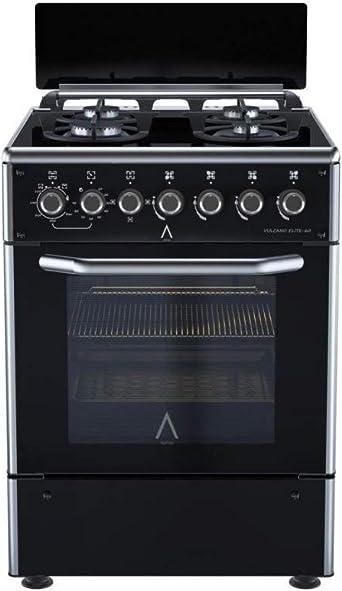 ALPHA Cocina de Gas VULCANO ELITE-60 Cristal Negro. Encendido automático y temporizador en horno. **Alta Gama**: Amazon.es: Grandes electrodomésticos