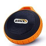 Zinx Outdoor Bluetooth Speaker,Portable Bluetooth speaker,with Waterproof & Dustproof, Shockproof Design, Built-in Mic, USB Charging Port, 8 Hours Playtime - TP-01 (Orange)