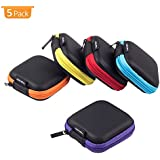 Coolsell [5-Pack] Square Carrying Cases for Cellphone Earphone Headset Earbuds Pouch Storage bags