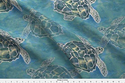 Spoonflower Sea Turtle Fabric Sea Turtle Batik Style by Lauriekentdesigns Printed on Kona Cotton Ultra Fabric by the (Kona Sea Turtle)