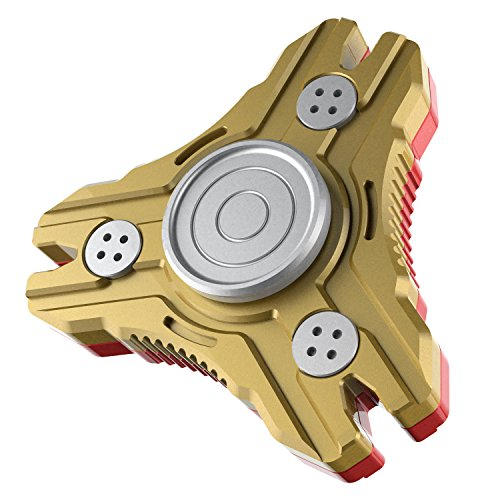 Price comparison product image Fidget Spinner Metal Alquar Nova-S Tri Hand Spinner Fidget Toy [Red Gold Iron man Multi Color] Exclusive Prime Bearing Smooth and Quiet Spin,Perfect For ADHD