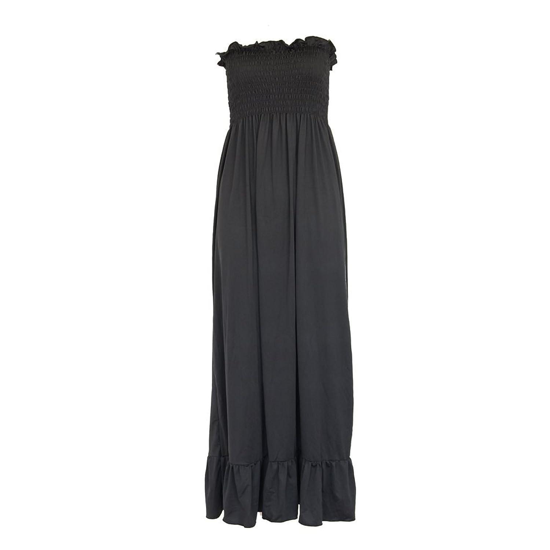 Trägerloses Langes Kleid Sommers Monie