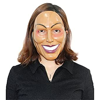 x-merry toy The Purge Mask Smiling Face Plastic Movie Prop Halloween Masquerade Cosplay Female