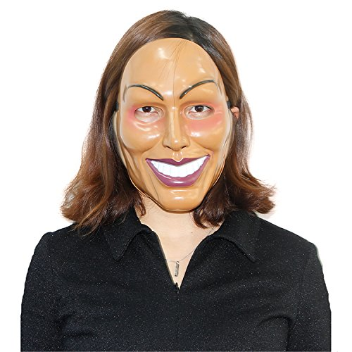 x-merry toy The Purge Mask Smiling Face Plastic Movie Prop Halloween Masquerade Cosplay (Halloween Movie Masks)
