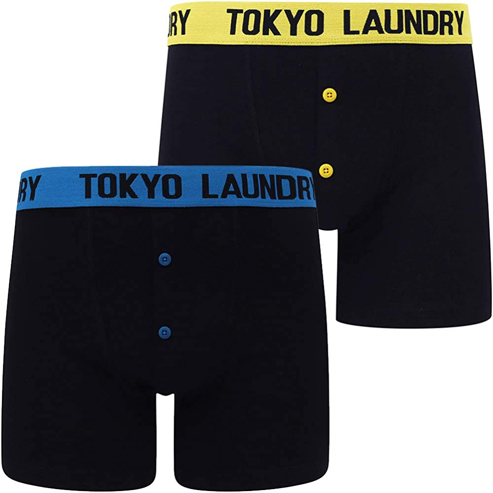 Tokyo Laundry Mens 2 Pack of Boxer Shorts