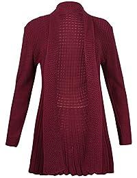 PurpleHanger Women's Waterfall Knit Open Cardigan Top Plus Size