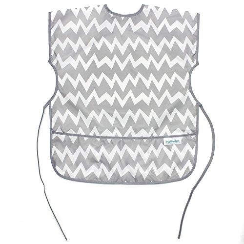 Price comparison product image Bumkins Short Sleeved Art Smock, Gray Chevron (3-7 Years)