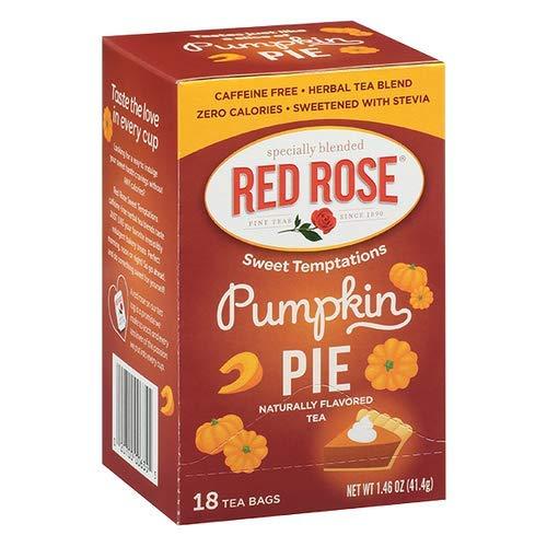 New Red Rose Tea! Great Fall Flavors! Your Choice Of Peach Cobbler, Pumpkin Pie, Peach Cobbler Pumpkin Pie Set, Or Six Pack Including Original Flavors! (Pumpkin Pie)