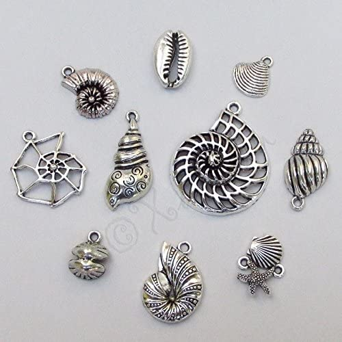 5-10pcs,Sea Snail Pendants Charms Bulk,Gold Plated Edged Beach Conch Shells DIY Bracelet Necklaces Earrings Supplies Jewelry Wholeasles