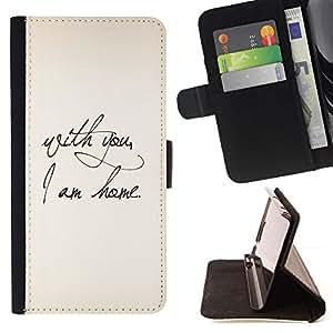 Momo Phone Case / Flip Funda de Cuero Case Cover - El amor de San Valentín Inicio Pergamino Pareja - Samsung Galaxy A5 ( A5000 ) 2014 Version