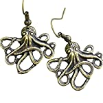 Steampunk Nautical Pirate Octopus Earrings Pendant Charm Dangle in Antique Style 6