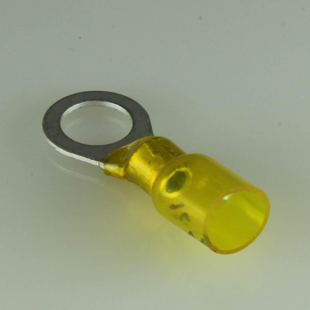 12-10 Ga. Heavy Duty Heat-Shrink Ring Terminals, 3/8'' Stud - (pack of 10)