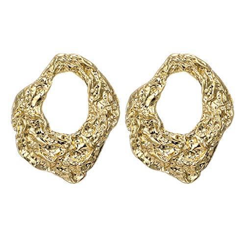 XBKPLO Dangle Hoop Earrings for Women's Fashion Irregular Geometric Hollow Oversized Dangling Ear Hook Wild Jewelry Lady Gifts - Oversized Handcuff Chain Steel