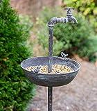 CTW Distressed Metal Spigot Bird Feeder Garden Stake