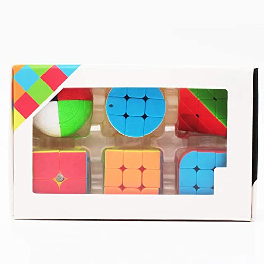 JIAAE Mini Llavero Magic Cube Set, 2X2 3X3 Pirámide ...