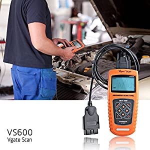 Vgate VS600 Diagnostic Scan Tool Advanced OBDII/EOBD Scanner Live Data Car Code Reader for 1996 or later US, European and Asian OBD2 Protocol Vehicle