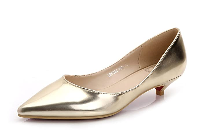 Vintage Style Shoes, Vintage Inspired Shoes Classic Slip On Pointed Toe Dress Shoes Low Heel Pump Ladies Shoes $29.99 AT vintagedancer.com