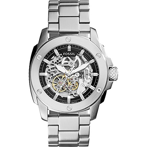 Fossil Men's ME3081 Modern Machine Automatic Stainless Steel Watch (Fossil 50mm Mens Watch)