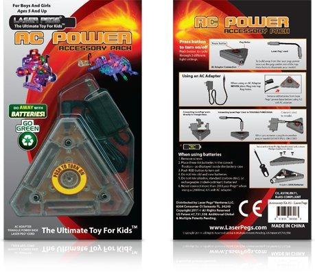 Light Up Building Construction Set - Laser Pegs - AC Power Accessory Pack (Light Up Building Construction Set Laser Pegs)