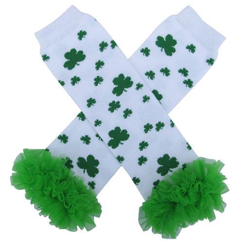 Shamrock St. Patrick's Day Irish Leg Warmers, One Size, Baby, Toddler, Girl, Boy (Tutu Chiffon Shamrock II) (St Patricks Outfit)