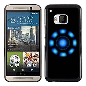 "For HTC One ( M9 ) , S-type Luces azules"" - Arte & diseño plástico duro Fundas Cover Cubre Hard Case Cover"