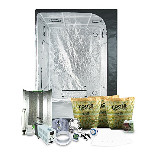 "51AvqPUTl%2BL - Complete 4.5 x 4.5 (55""x55""x79"") Grow Tent Package With 1000-Watt HPS Grow Light + Organic Soil & Nutrients"
