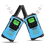 Walkie Talkies for Kids, 22 Channel Kids Walkie Talkies 2 Way Radio 3 Miles (Up to 5Miles) FRS/GMRS Handheld Mini Walkie Talkies for Kids (Pair) (Blue)