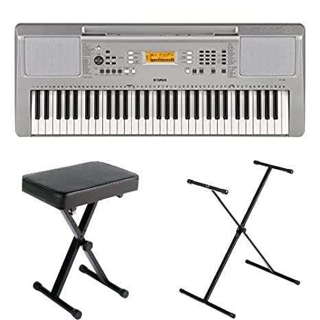 Yamaha YPT260 61-Key Portable Keyboard Bundle with Stand, Bench and Power Supply YPT260 BNDL