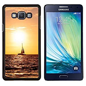 Qstar Arte & diseño plástico duro Fundas Cover Cubre Hard Case Cover para Samsung Galaxy A7 A7000 (Sunset Sailing)
