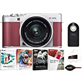 Fujifilm X-A5 Mirrorless Digital Camera (Pink) with XC15-45mm Lens (Silver) and Focus Software Bundle