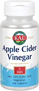 KAL Apple Cider Vinegar Capsules, 500 mg, 120 Count