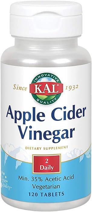 KAL Apple Cider Vinegar Capsules, 500 mg, 120 Count