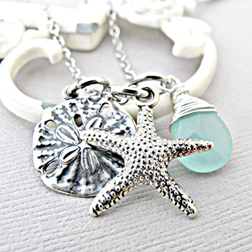 Personalized Sand Dollars - Starfish Necklace - Sand Dollar Necklace - Beach Wedding - Wedding Jewelry - Nautical jewelry - Mother of Bride - Mother of Groom