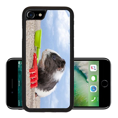 Liili Premium Apple iPhone 7 iPhone7 Aluminum Backplate Bumper Snap Case guinea pig playing in the sand with a rake and shovel of colors the sky Photo 20271053