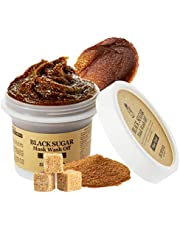SKINFOOD Black Sugar Mask Wash Off 3.52 fl. oz.(100g) - Moisturizing Exfoliating Scrub Mask with Minerals and Vitamins, Removes Blackheads and Dead Skin Cells for Rough Skin