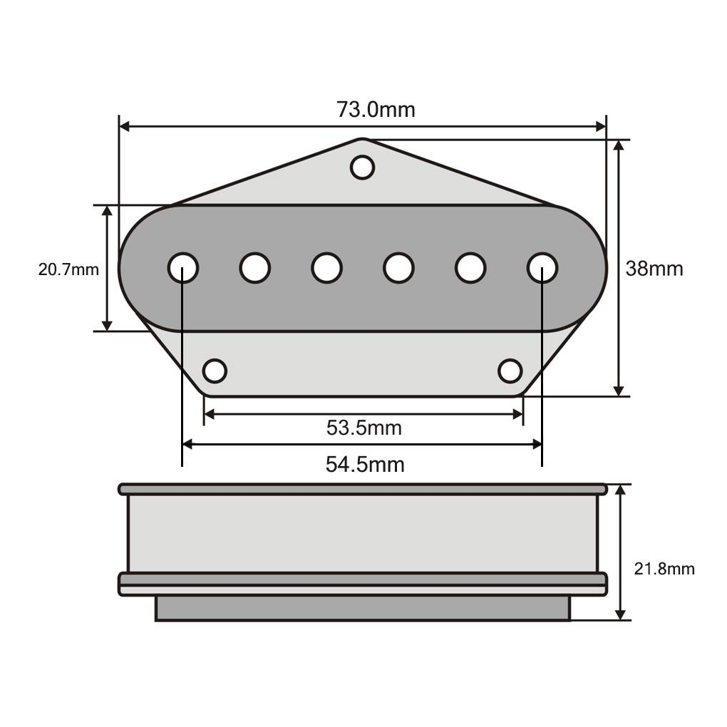 FLEOR Single Coil Pickups Ceramic Tele Neck Pickup Chrome Fit Fender Telecaster Neck Pickup Part
