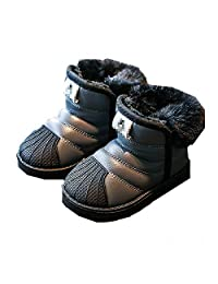 YSNJL Kids Winter Snow Boots Boy's Girl's Outdoor Waterproof Cold Weather Snow Boots (Toddler/Little Kid/Big Kid)