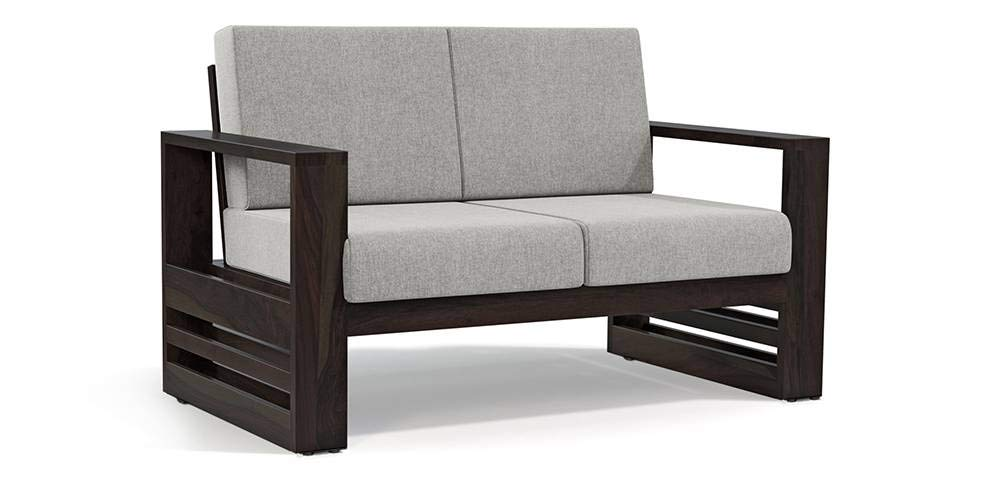 Urban Ladder Parsons Wooden Sofa 2 Seater - American Walnut Finish (Colour : Vapour Grey): Amazon.in: Home & Kitchen