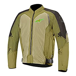 Alpinestars 2833 Wake Air Jacket (Black and Olive Green, L)