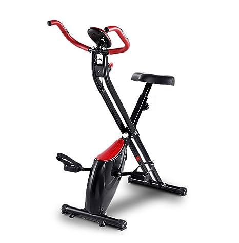 HLeoz Bicicleta Plegable magnética, Pulsómetro Pantalla LCD Resistencia Variable Resistencia Variable Ideal para Quemar Grasa y Mejorar la Forma física: Amazon.es: Deportes y aire libre