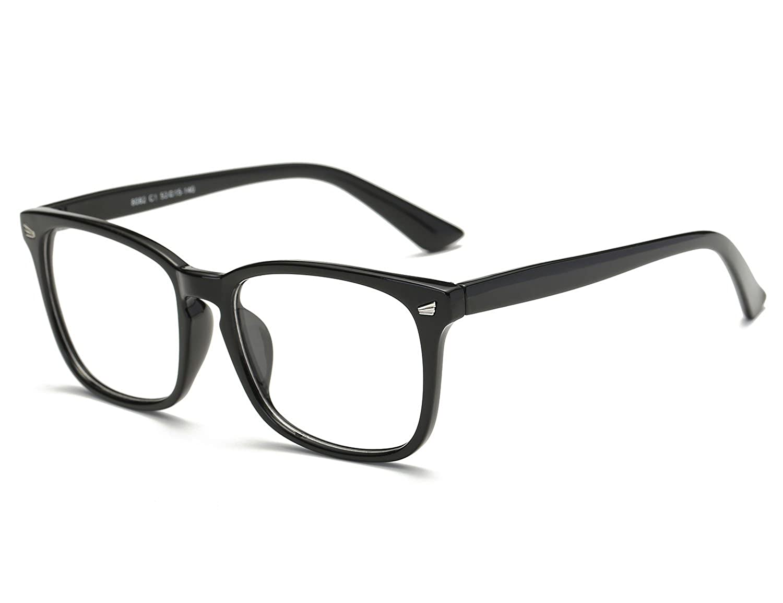 Bmeigo Clear Lens Glasses for Women and Men Classic Black Frame Unisex Spectacles Y1806006.01_BME