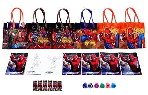 Marvel Spider Man Stationery - Marvel Spider-Man Party Favor Set - 6 Packs (42 Pcs)