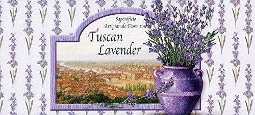Saponificio Artigianale Fiorentino Tuscan Potted Lavender 3 X 4.40 Oz. Soap Set From Italy