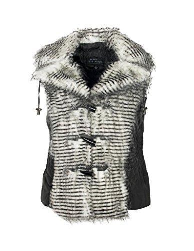 - MontanaCo Vest Womens Geyser Faux Fur Toggles M Gray F6512