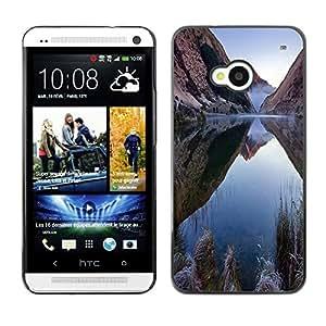 Be Good Phone Accessory // Dura Cáscara cubierta Protectora Caso Carcasa Funda de Protección para HTC One M7 // Nature Mountain Lake